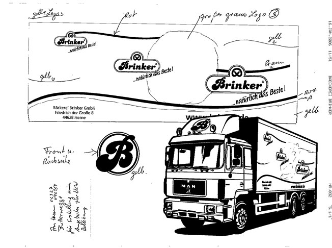 Projekt Brinker Fahrzeugbeschriftung Bochumer Reklamewerkstatt